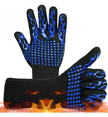 BBQ Gloves Microwave Kitchen Baking Grill Oven Mitts Heat Insulation Fireproof