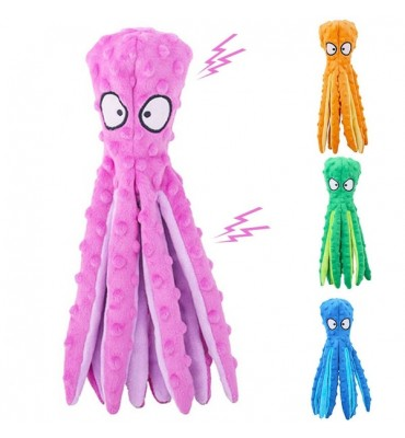 Squeaky Plush Octopus Toy  For Dogs