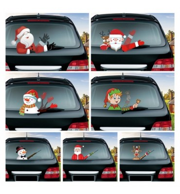 Christmas Car Windshield Wiper Stickers