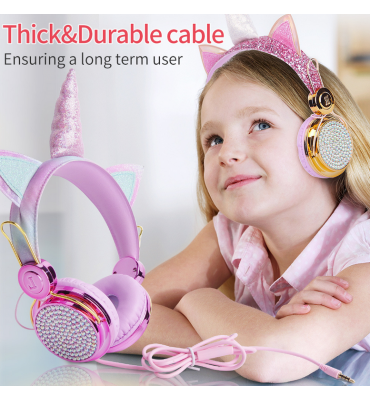 Kids Christmas Gifts Unicorn Headphone