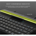 64 Keys Reel Portable Folding Bluetooth Keyboard