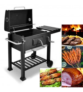 BBQ Grill Charcoal Barbecue Grill with Side Shelf