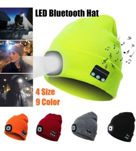 Music Knitted Hat With LED Light