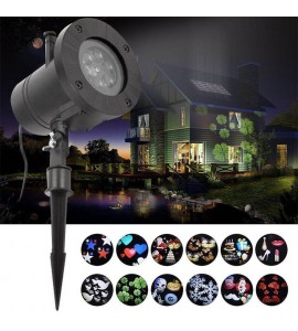 12 Pattern Outdoor Projection Lamp