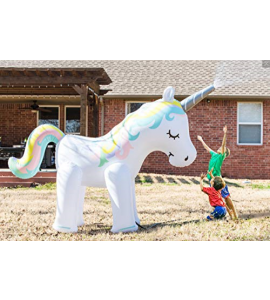 Summer backyard Inflatable unicorn sprinkler