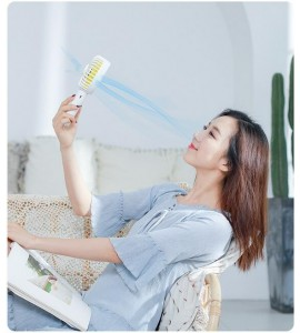 Rechargeable Handheld Fan with Rotatable Fan Head