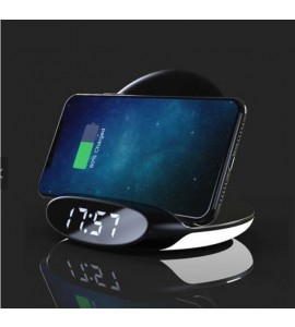 2 in1 Digital LED Alarm Clock wireless charger