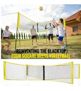 Portable Tennis Badminton Square Mesh